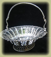 English Silver Basket by Chrichton