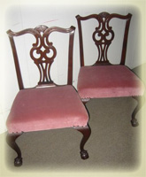 Pair of Massachusetts side chairs, CA. 1780 with Pickman Family of Salem MA