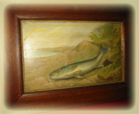 Painting of Fish by Arnold wydveid $920