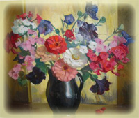 Floral Painting by Margurite S. Pearson - $2472.50